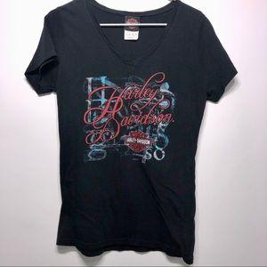 Women's Harley Davidson V-neck T-shirt